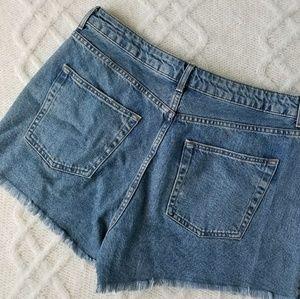86439e06df Topshop Shorts | Moto Rose Embroidered Mom High Waist Rise | Poshmark